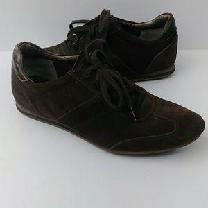 Cole Haan Nike Air Leather Suede Sneakers Brown